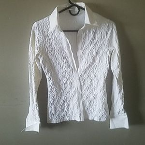 Anne Fontaine White Collar button up Blouse